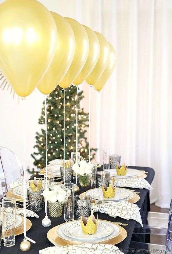 decorar la mesa en nochevieja VI