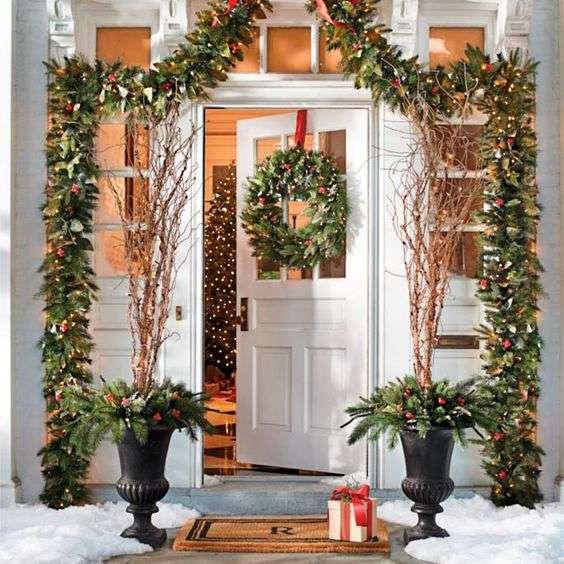 Ideas Para Decorar Puertas En Navidad.Ideas Para Decorar La Puerta De Casa En Navidad Y Vistela