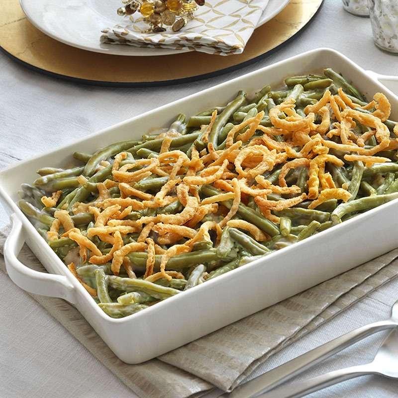 Cocina navideña - green bean casserole