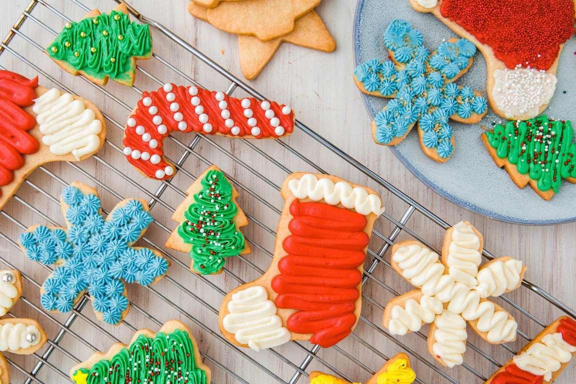 Galletas de Navidad de varios colores