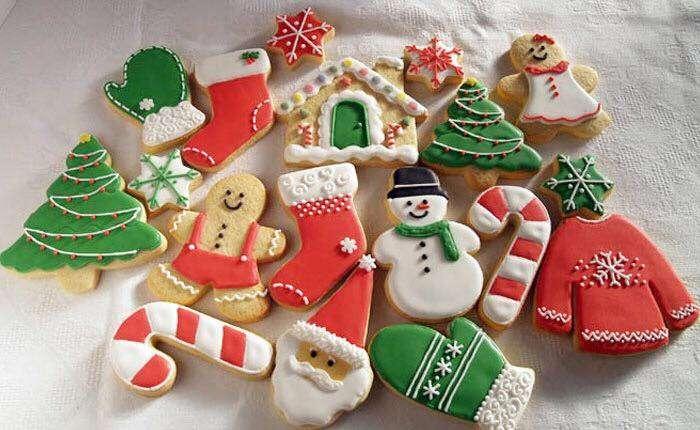 Galletas de Navidad en rojo y verde