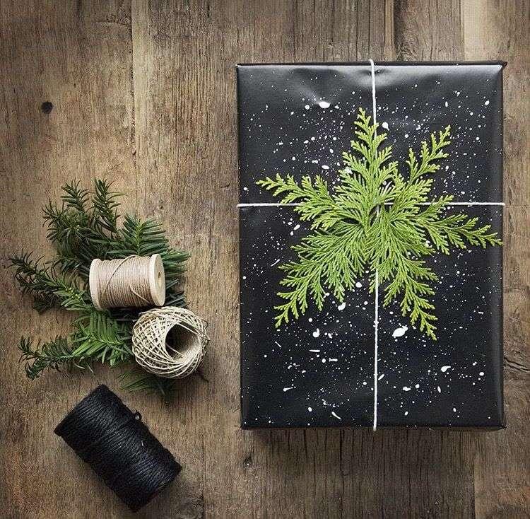 envolver regalos con ramas