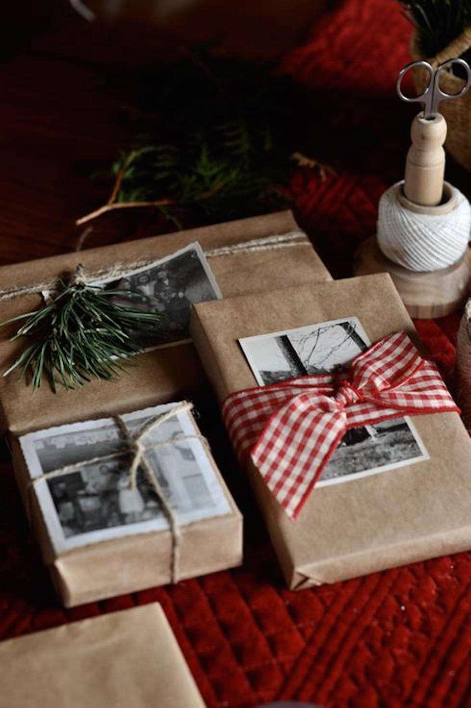 envolver regalos con fotos