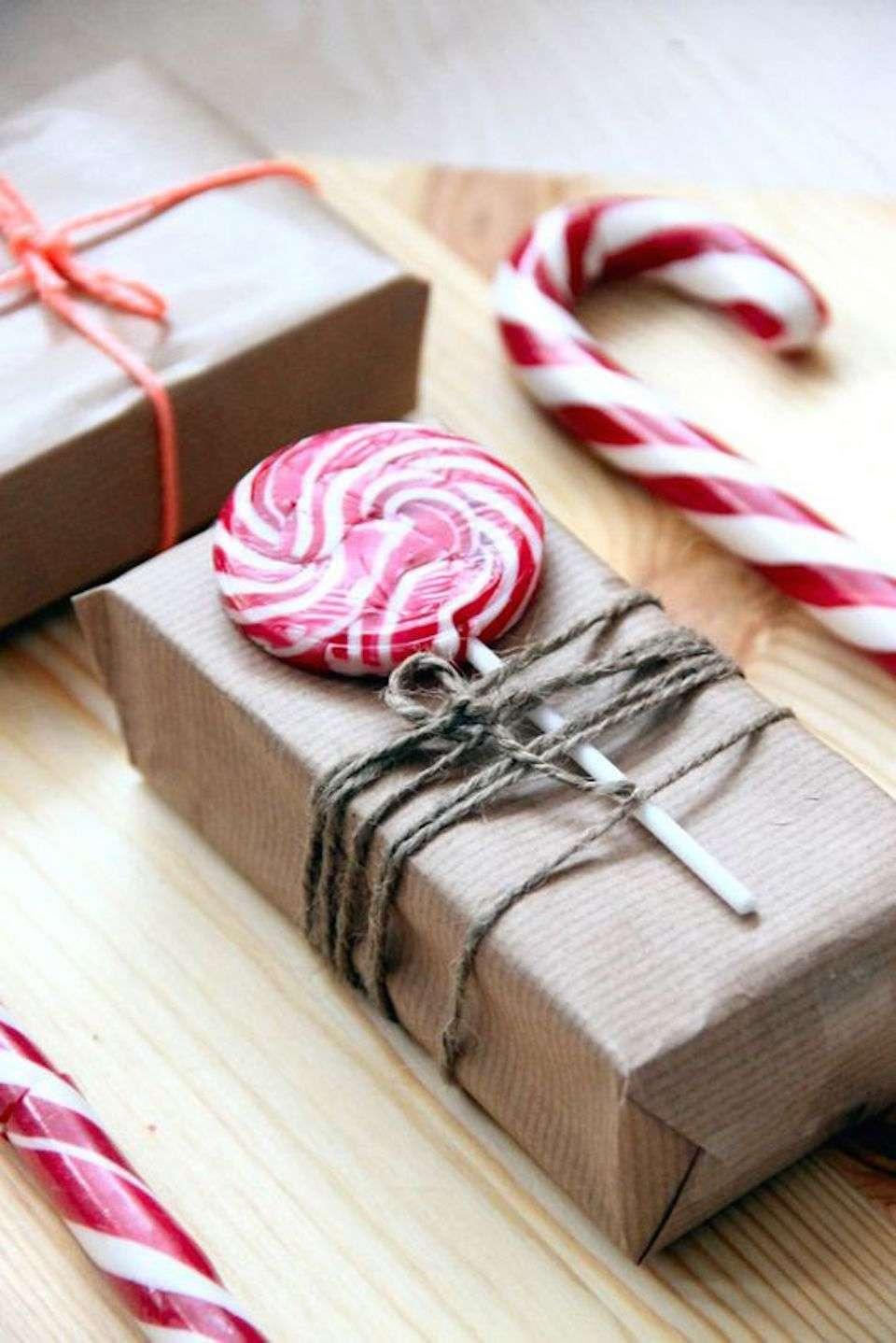 envolver regalos con dulces