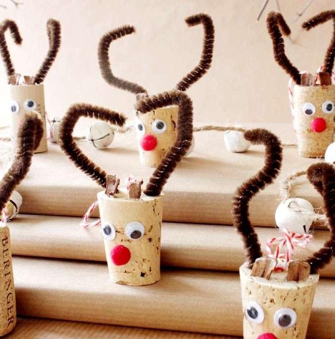 manualidades navideñas con tapones