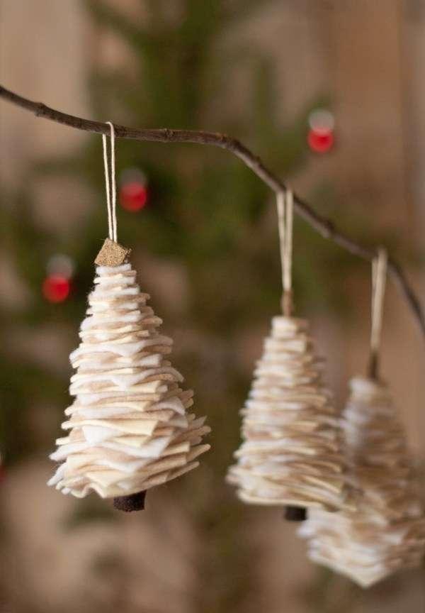 manualidades navideñas - abetos de fieltro