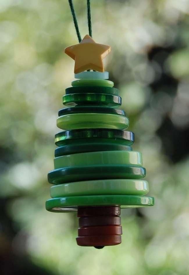 manualidades navideñas con botones