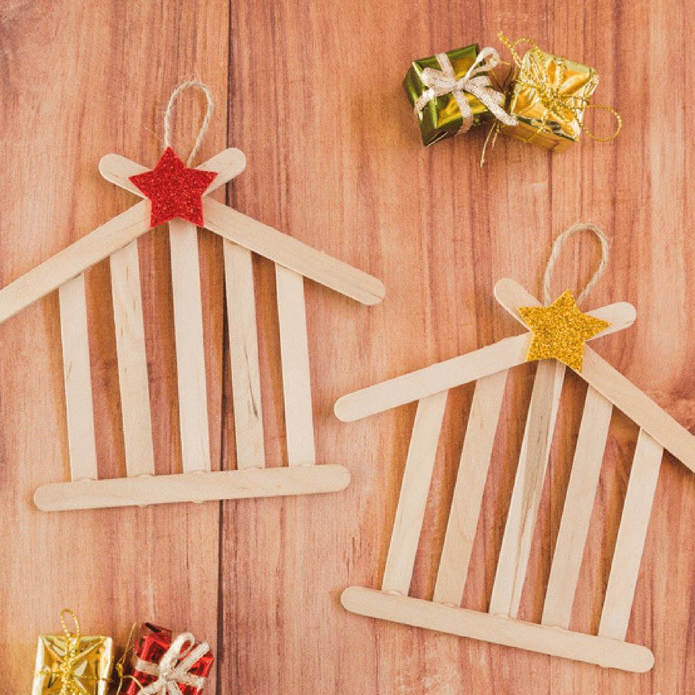 manualidades navideñas con palitos