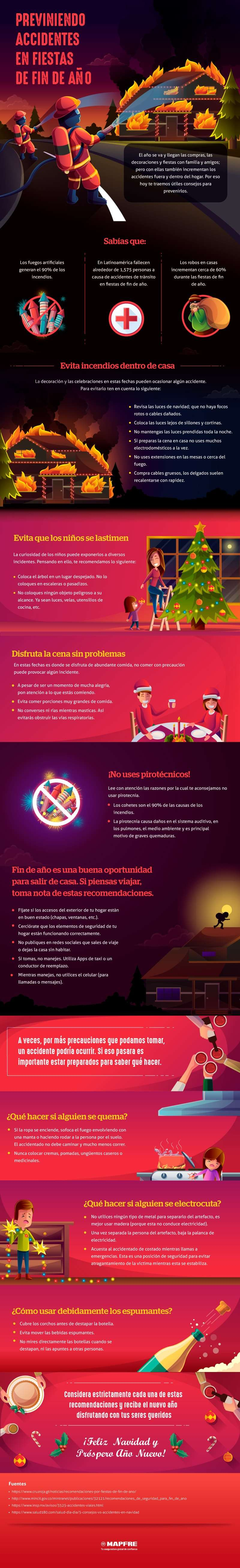 Infografía: previniendo accidentes en fiestas de fin de año y navidad 3
