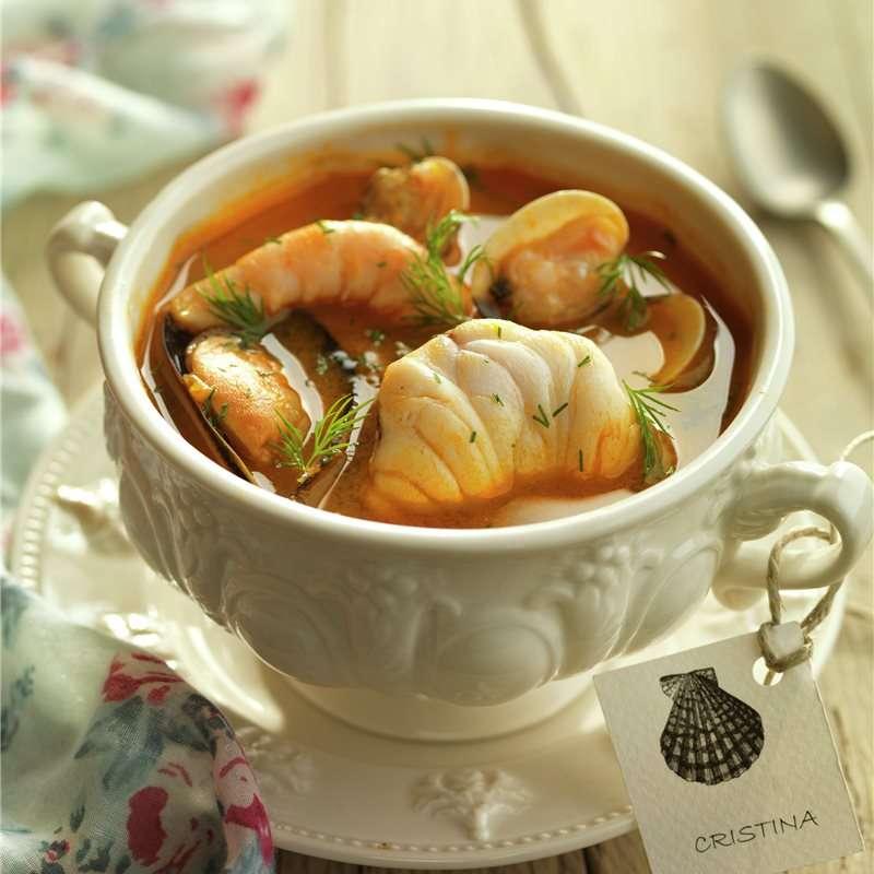 Nochevieja - sopa de marisco