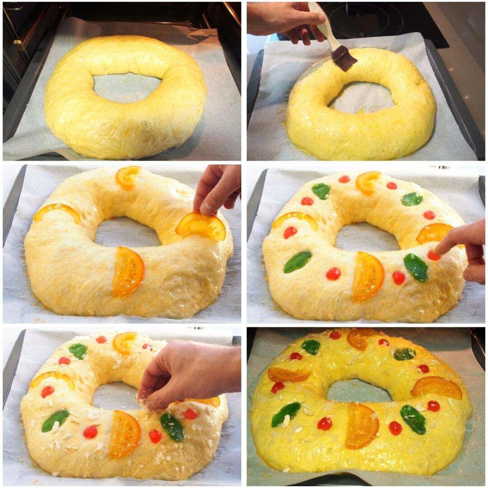 Roscón de Reyes - pasos de la receta