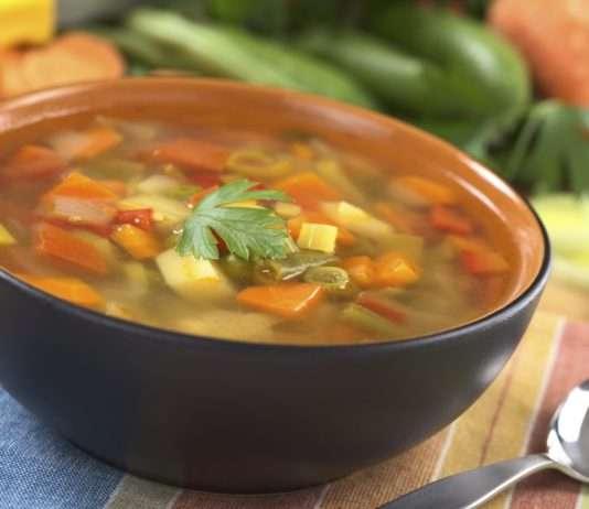 sopa quemagrasas con verduras