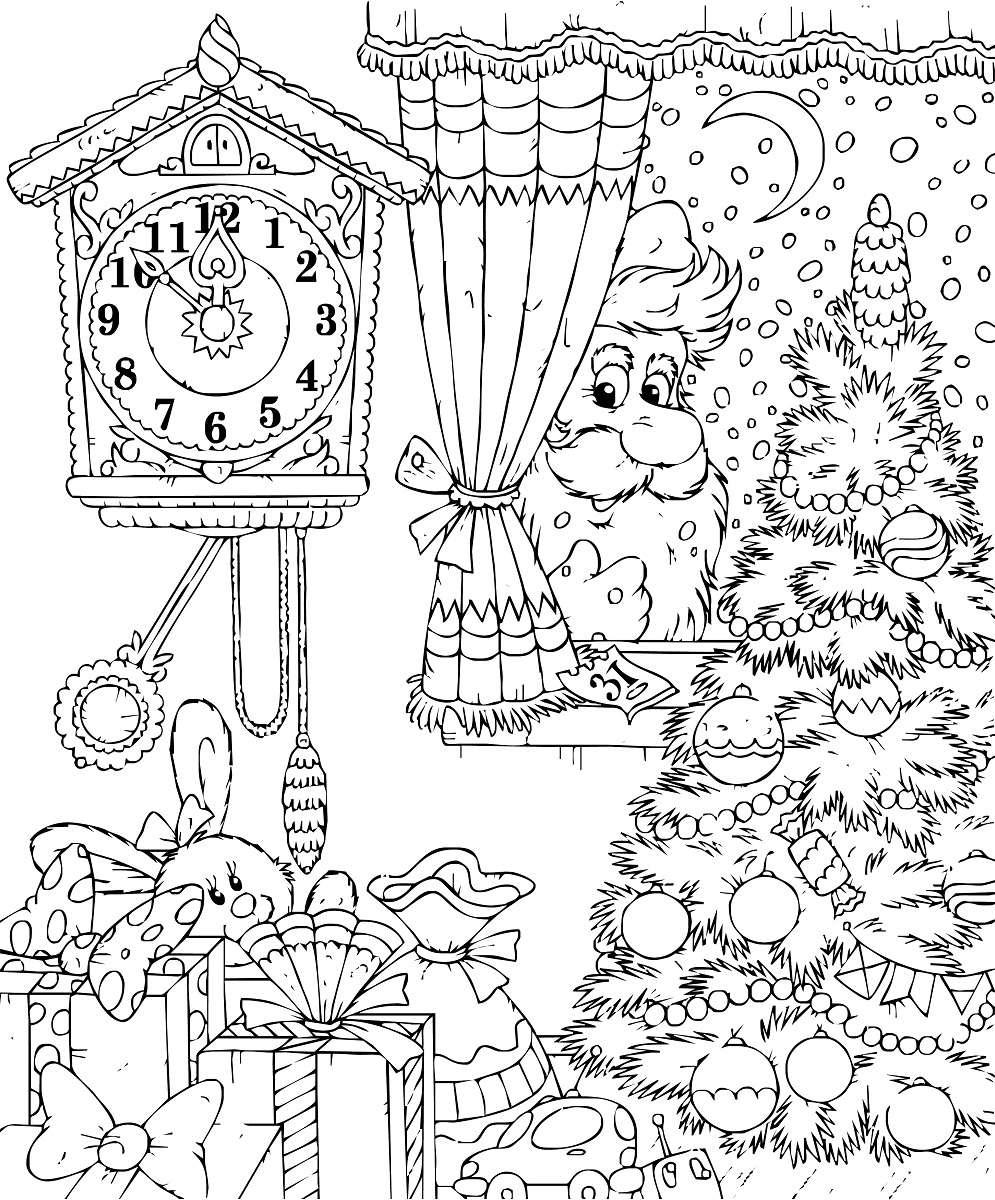 Más de 10 dibujos de Navidad para colorear 3