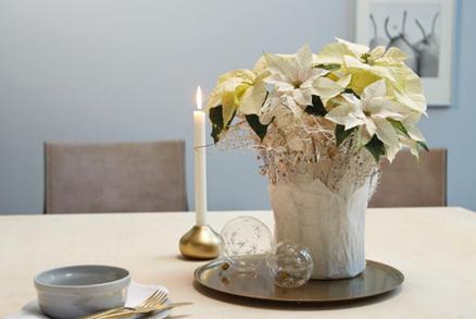 Decora tu hogar en Navidad con estas manualidades con poinsettias 3