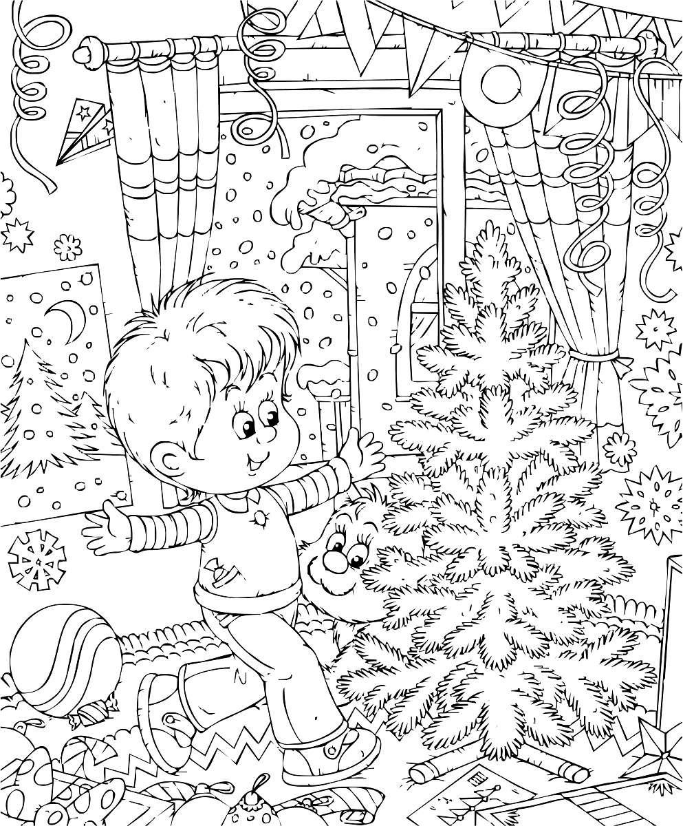 Más de 10 dibujos de Navidad para colorear 1