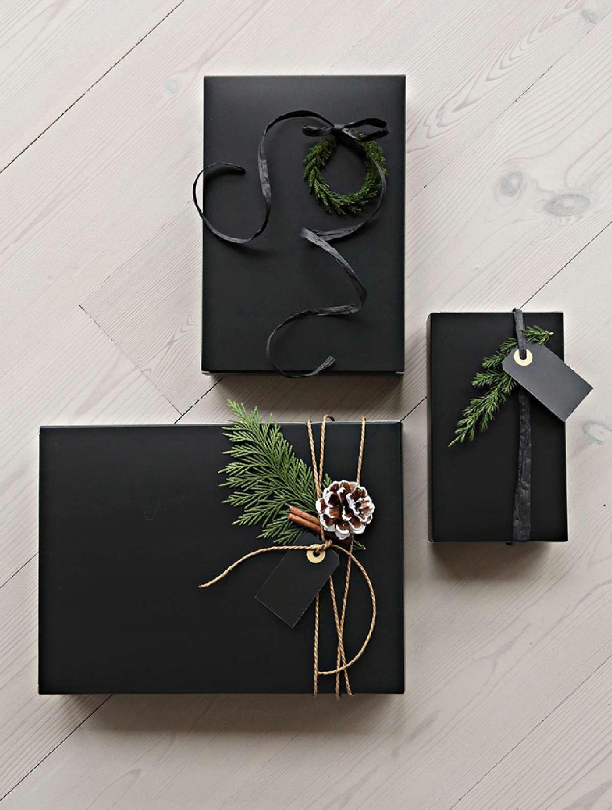 Originales ideas para decorar y envolver los regalos navideños 10