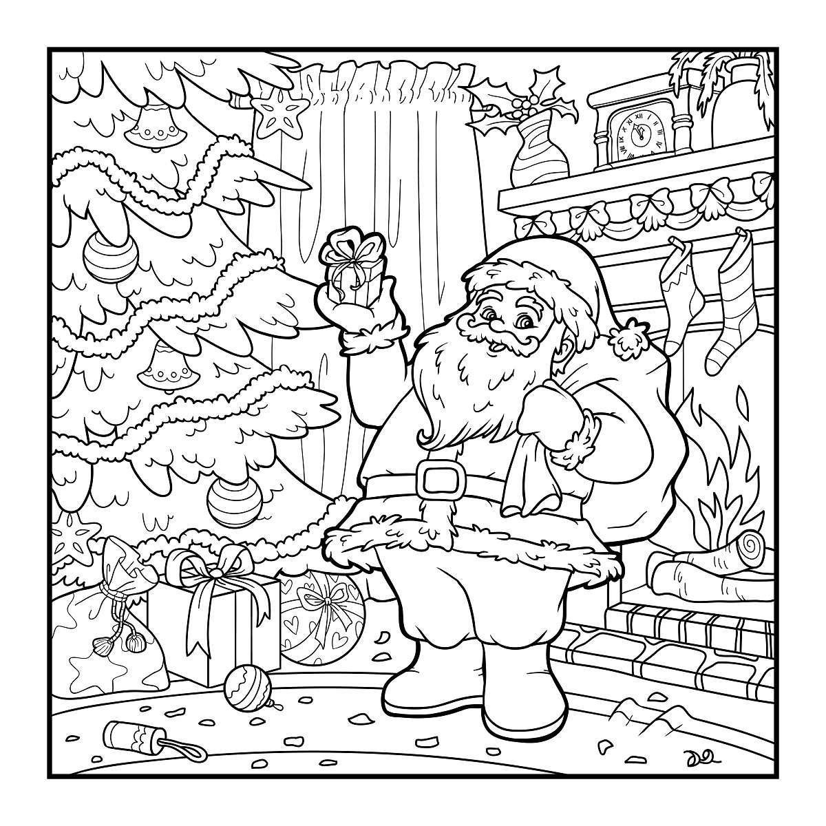 Más de 10 dibujos de Navidad para colorear 2