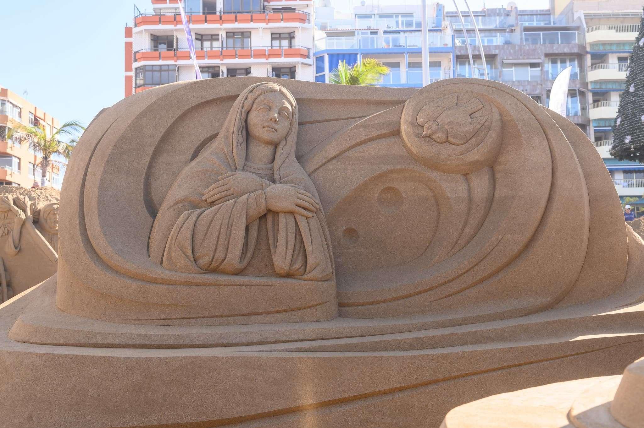 Un original Belén de arena para la navidad en Gran Canaria 68