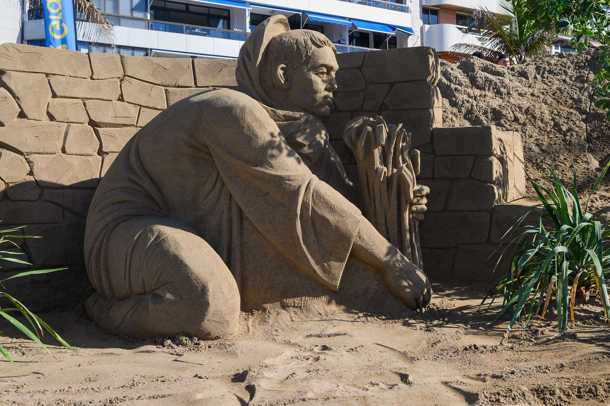 Un original Belén de arena para la navidad en Gran Canaria 70
