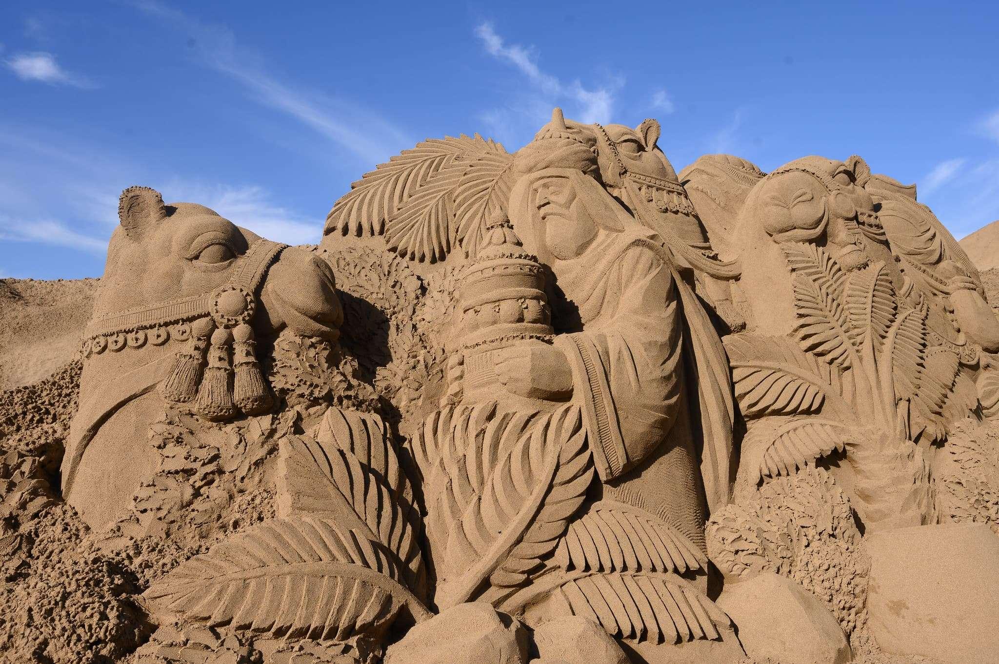 Un original Belén de arena para la navidad en Gran Canaria 72