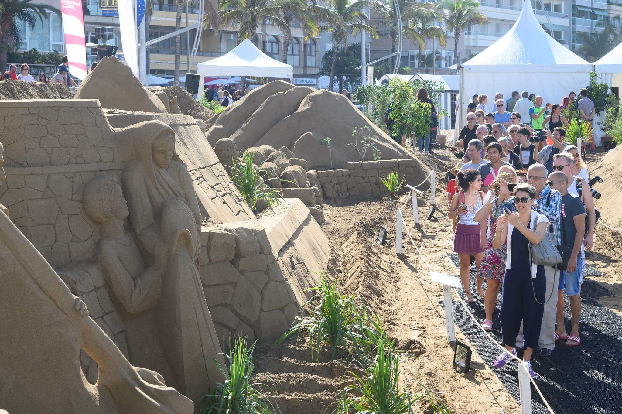 Un original Belén de arena para la navidad en Gran Canaria 75