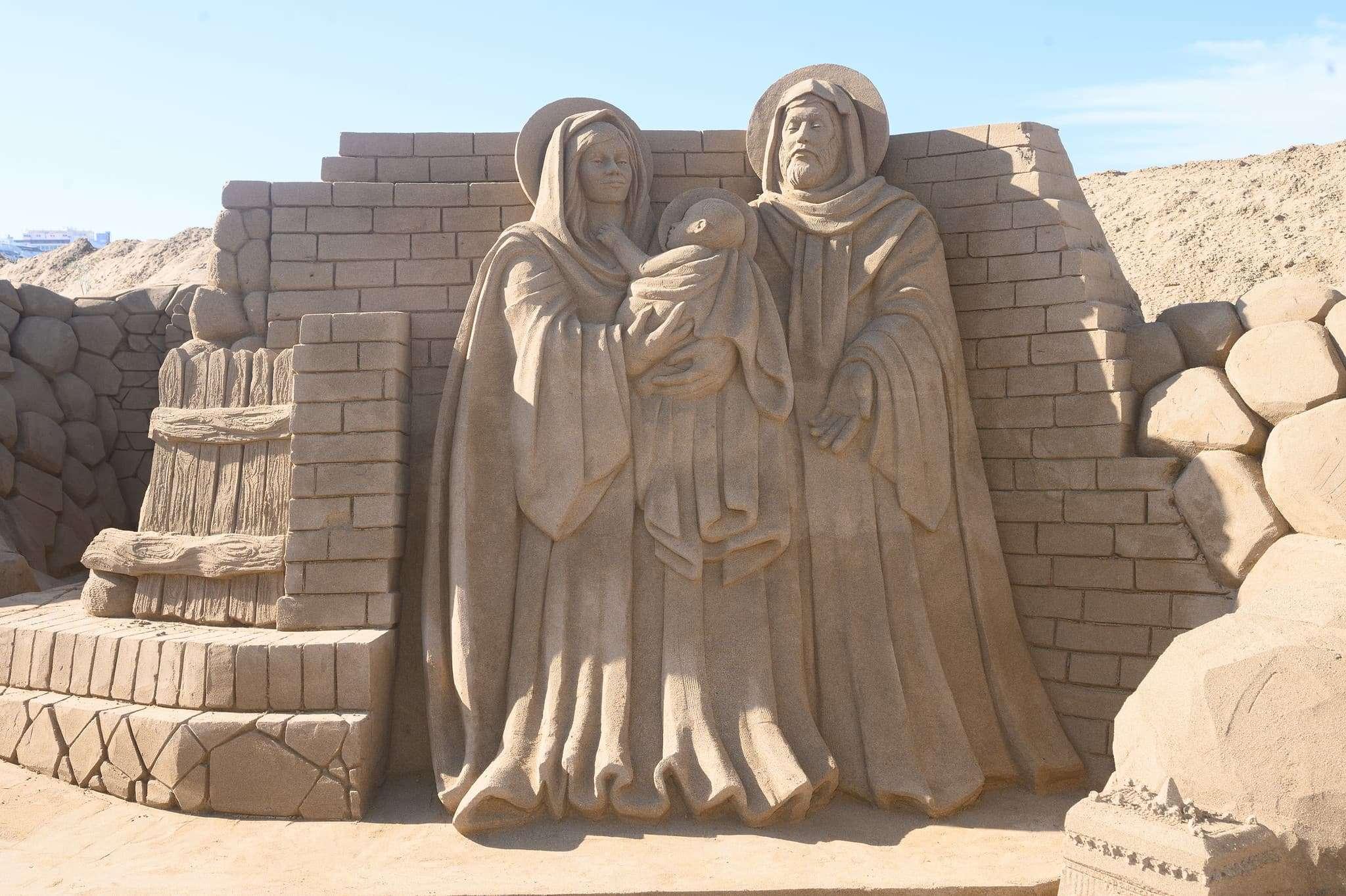 Un original Belén de arena para la navidad en Gran Canaria 59