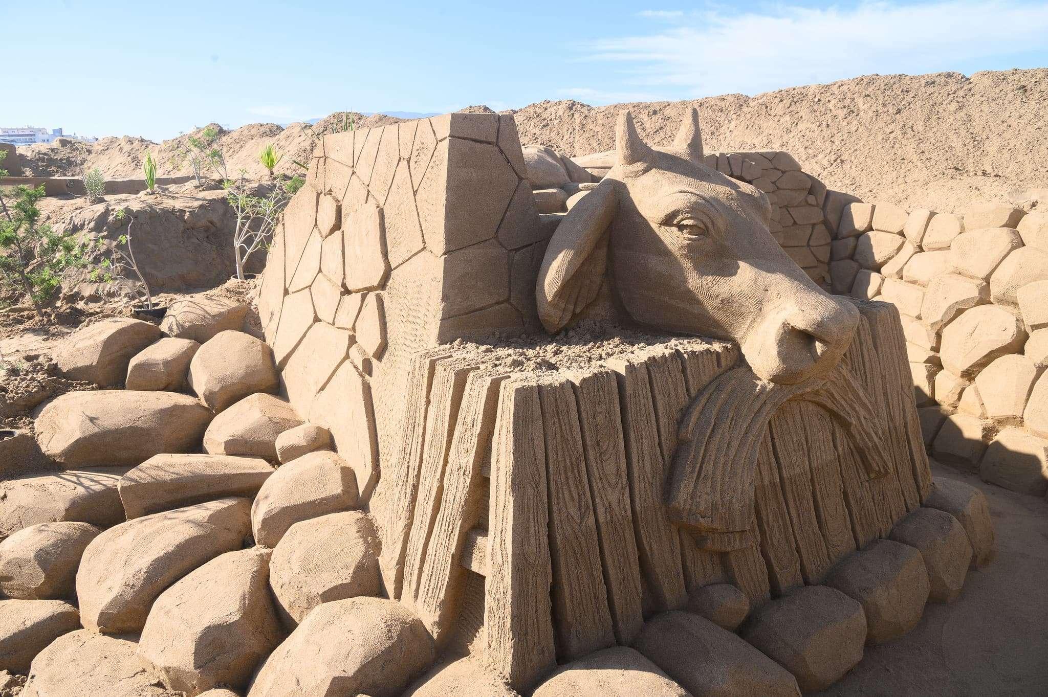 Un original Belén de arena para la navidad en Gran Canaria 77