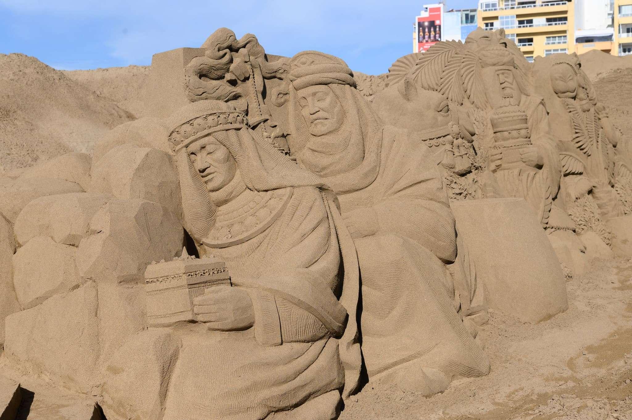 Un original Belén de arena para la navidad en Gran Canaria 78
