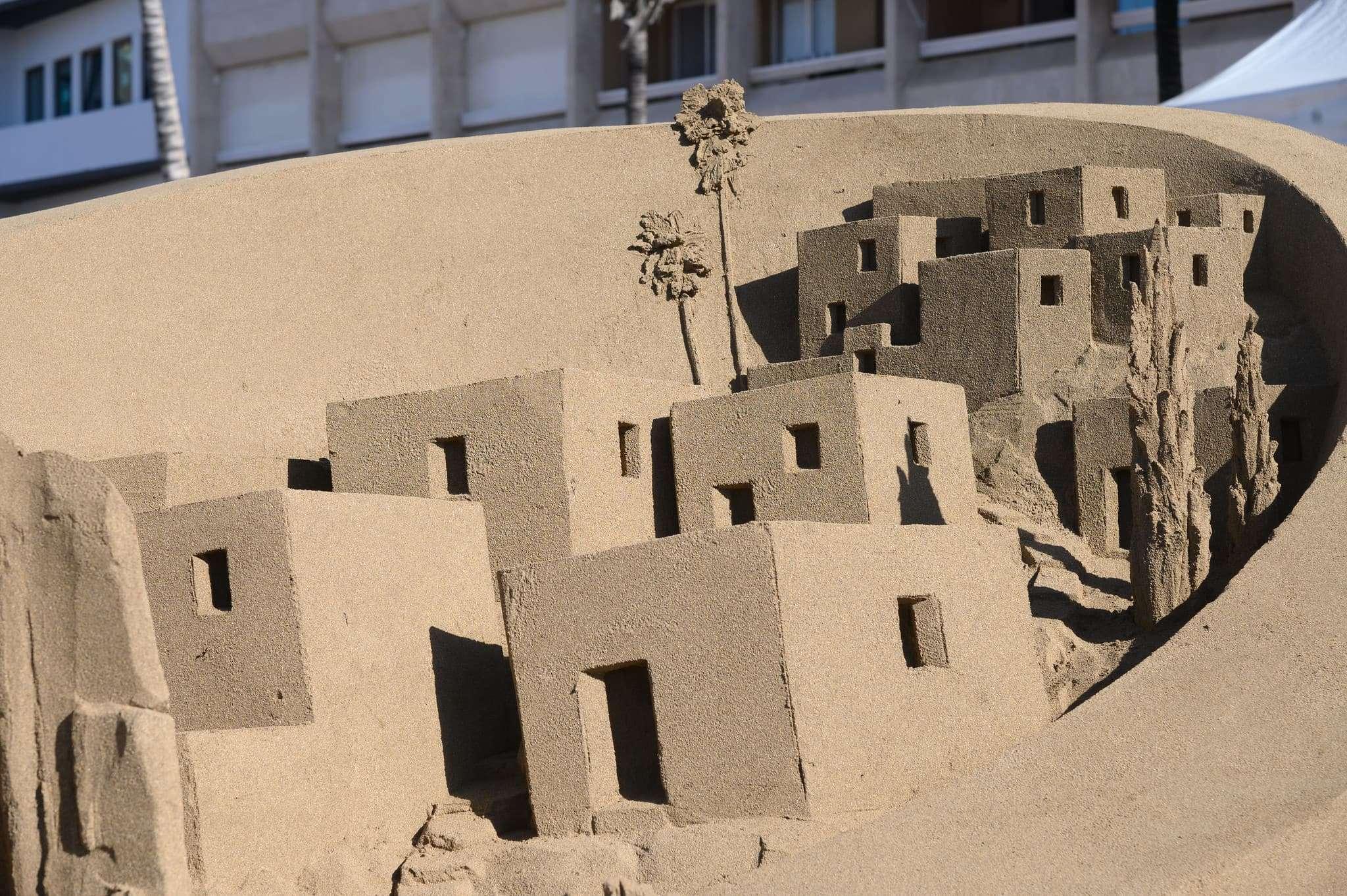 Un original Belén de arena para la navidad en Gran Canaria 80
