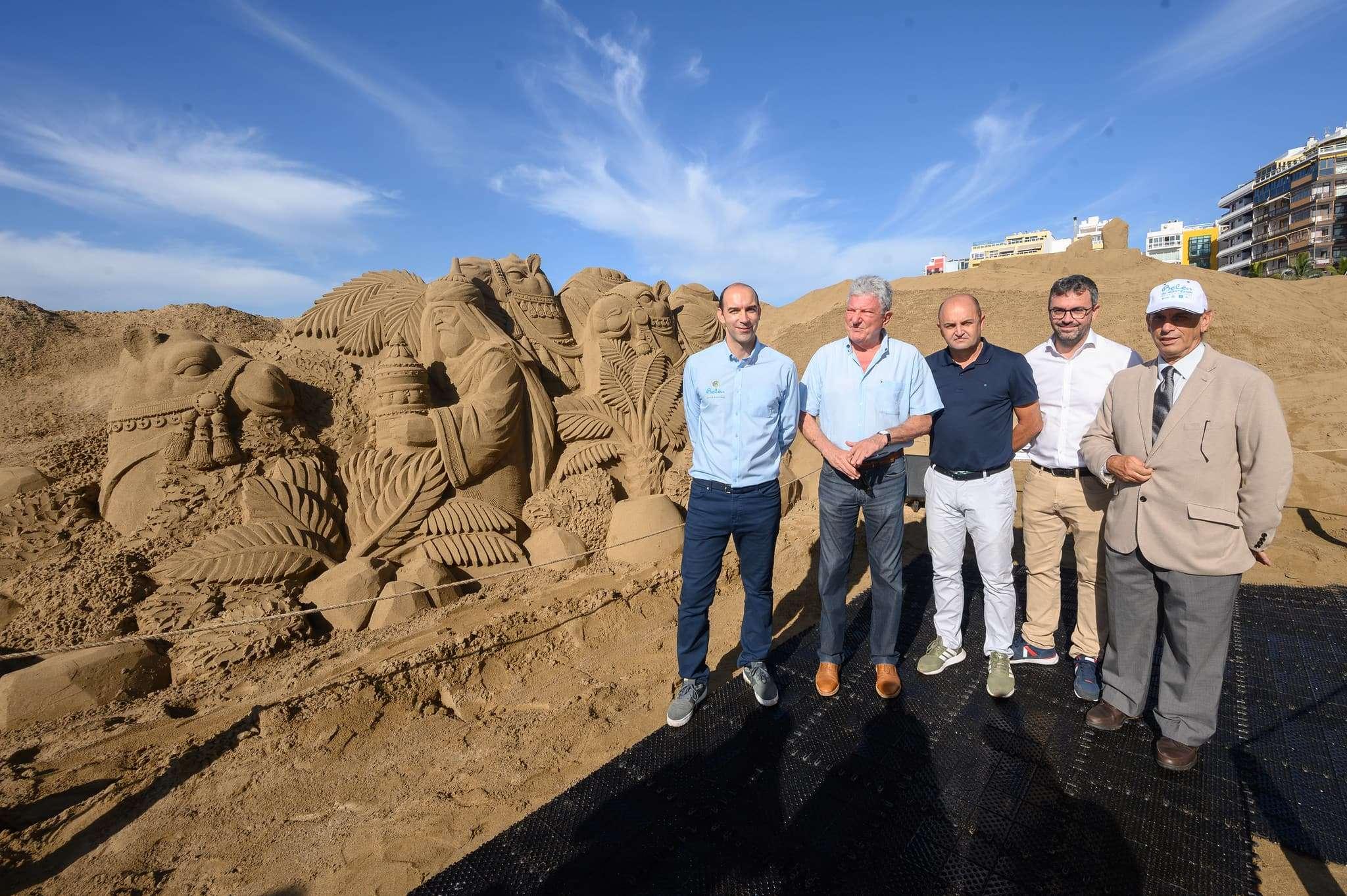 Un original Belén de arena para la navidad en Gran Canaria 81
