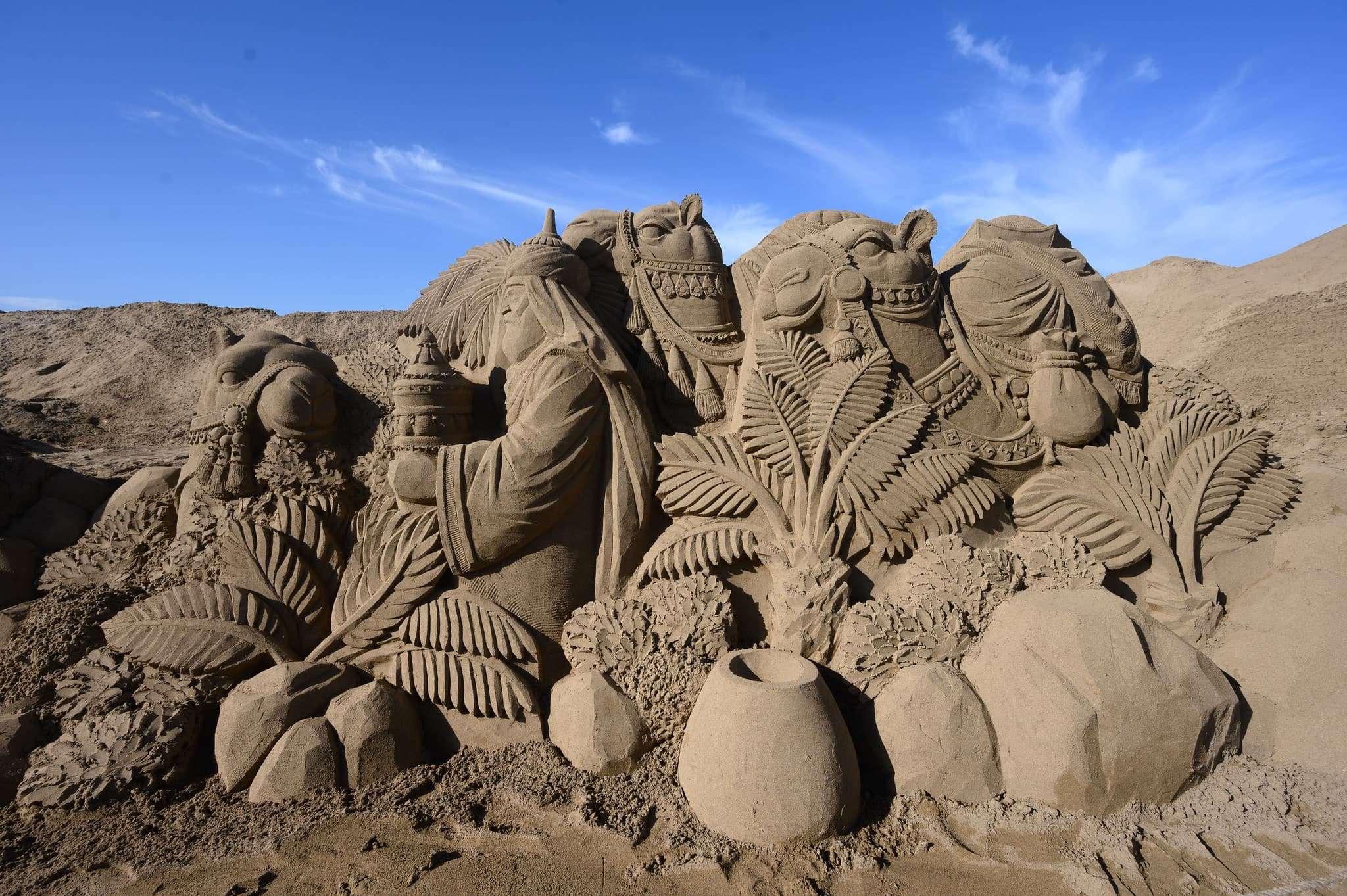 Un original Belén de arena para la navidad en Gran Canaria 57