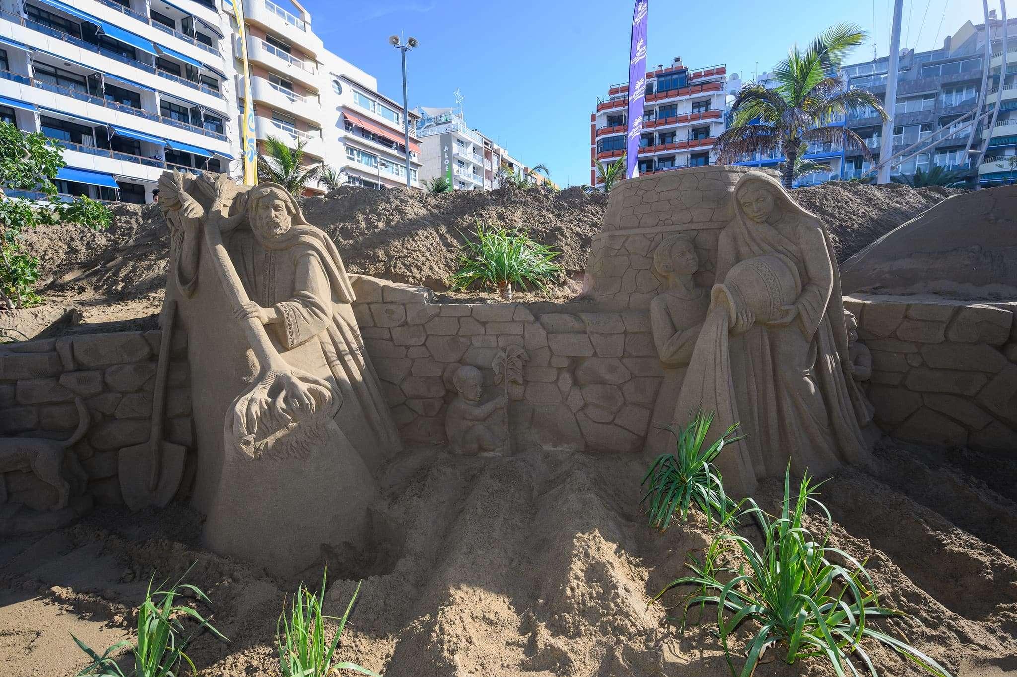 Un original Belén de arena para la navidad en Gran Canaria 83