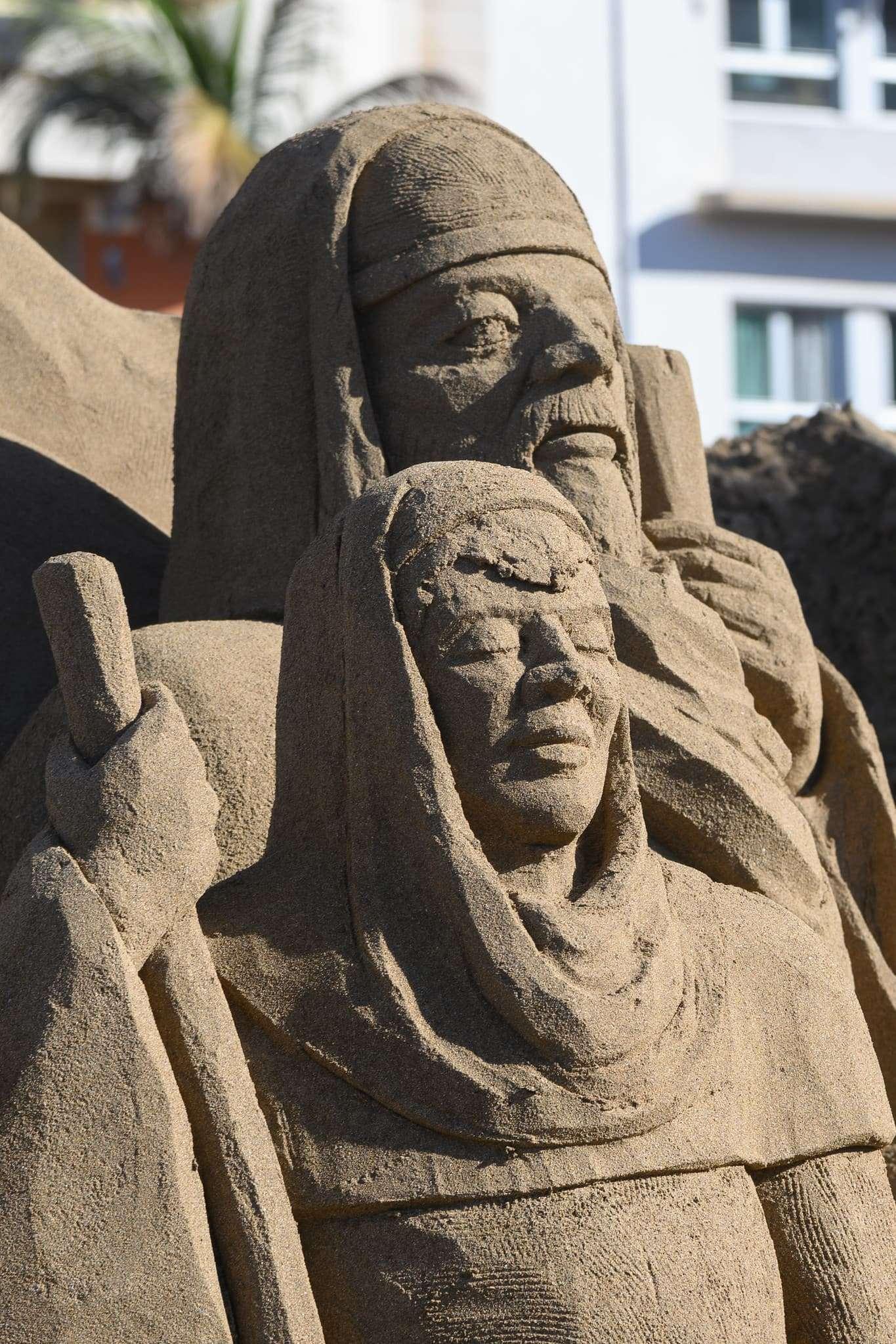 Un original Belén de arena para la navidad en Gran Canaria 84