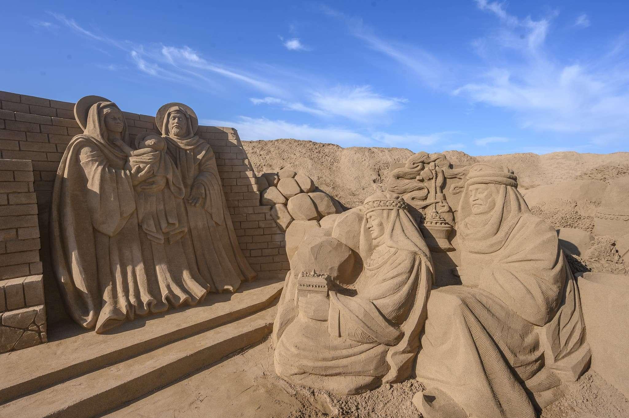 Un original Belén de arena para la navidad en Gran Canaria 60
