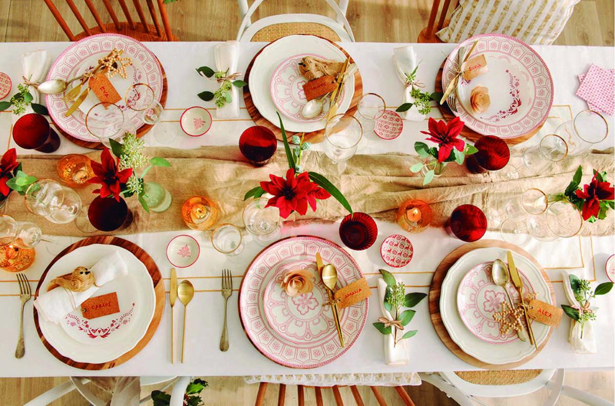 Creativas ideas para la decoración de la mesa navideña 1