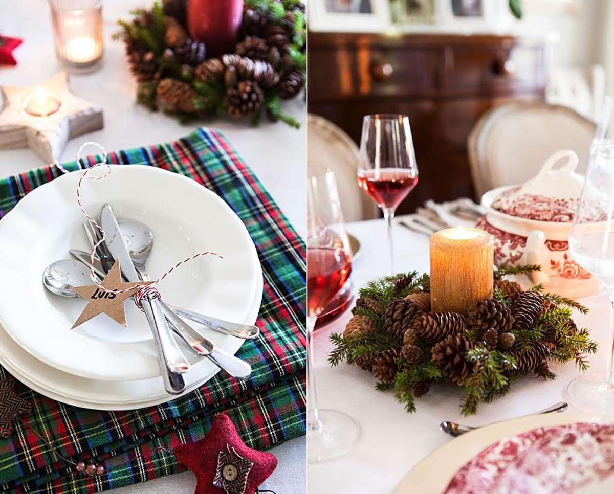 Creativas ideas para la decoración de la mesa navideña 10