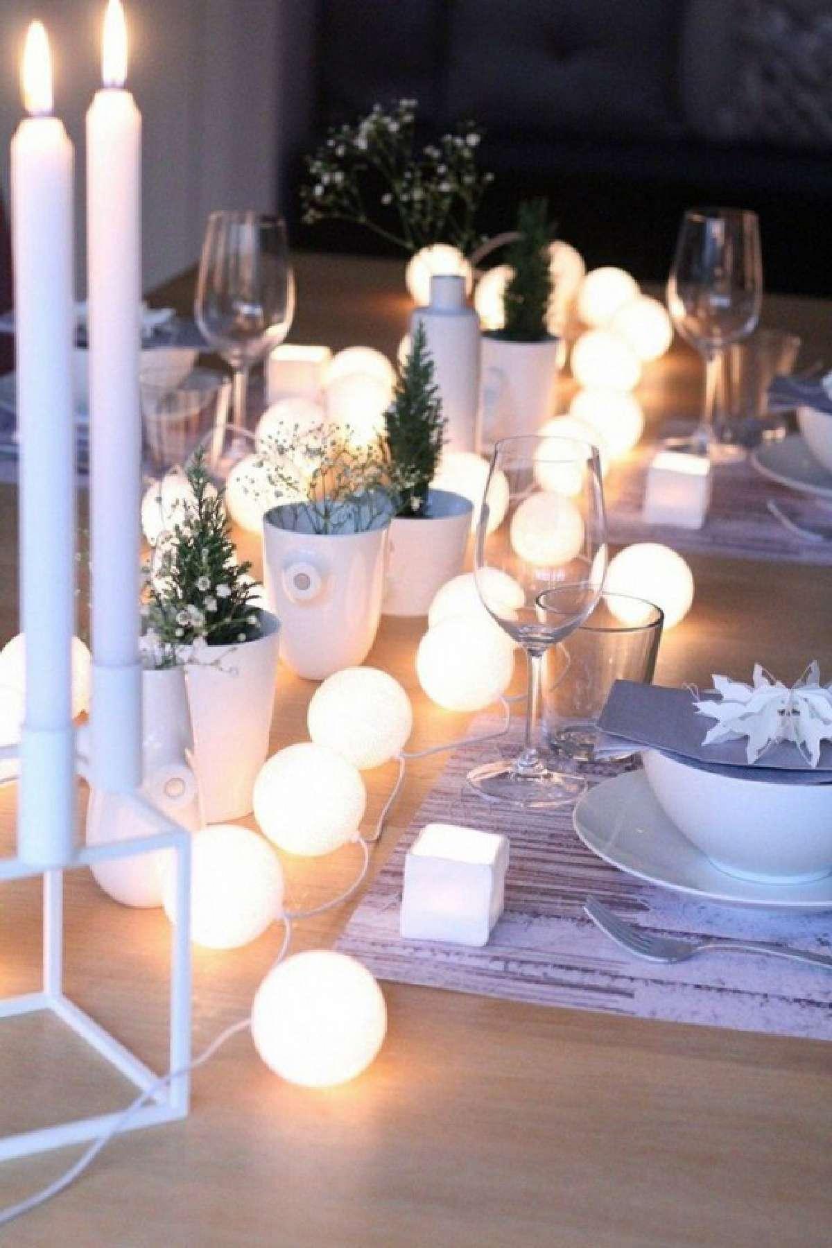 Creativas ideas para la decoración de la mesa navideña 14