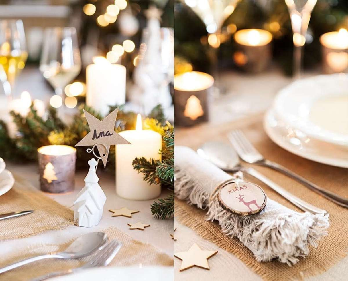 Creativas ideas para la decoración de la mesa navideña 9