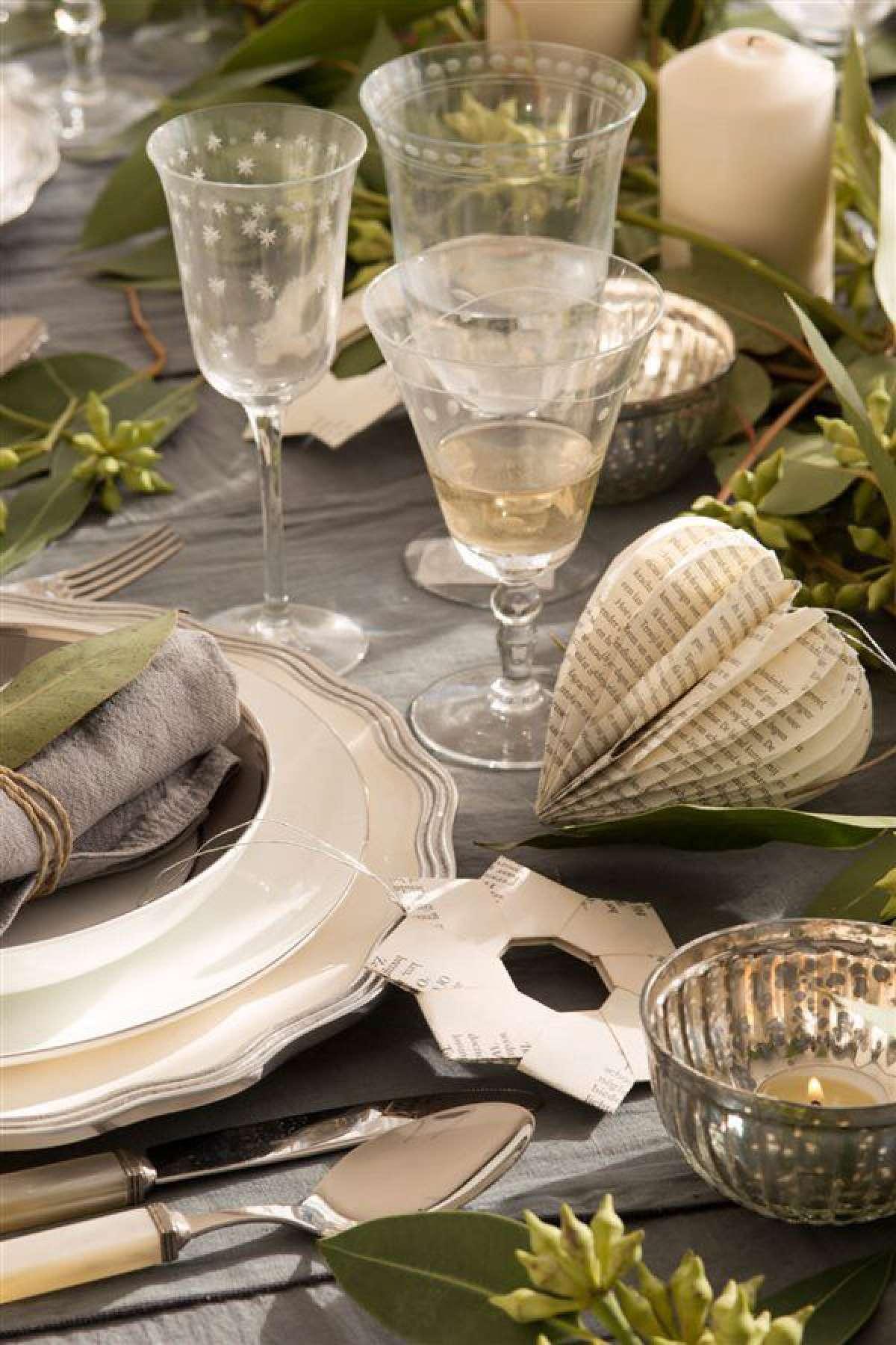 Creativas ideas para la decoración de la mesa navideña 12
