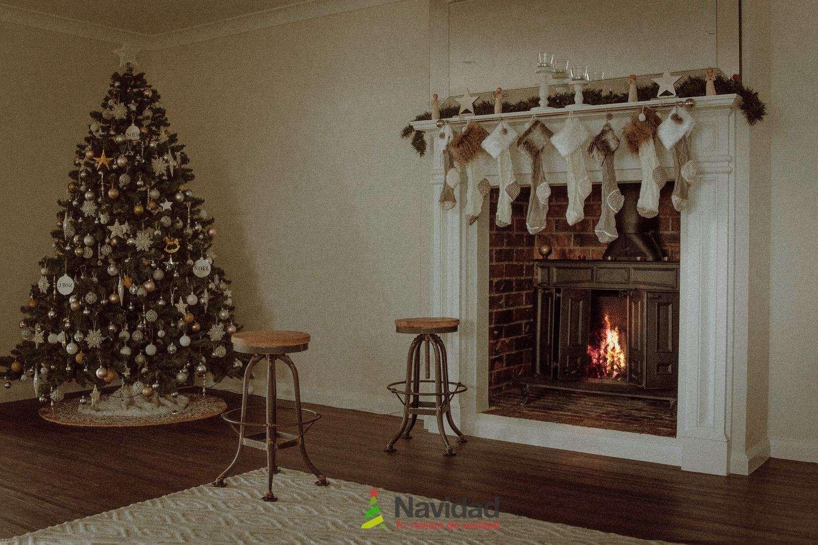 Chimeneas de Navidad para decorar y dar calor en fiestas 64
