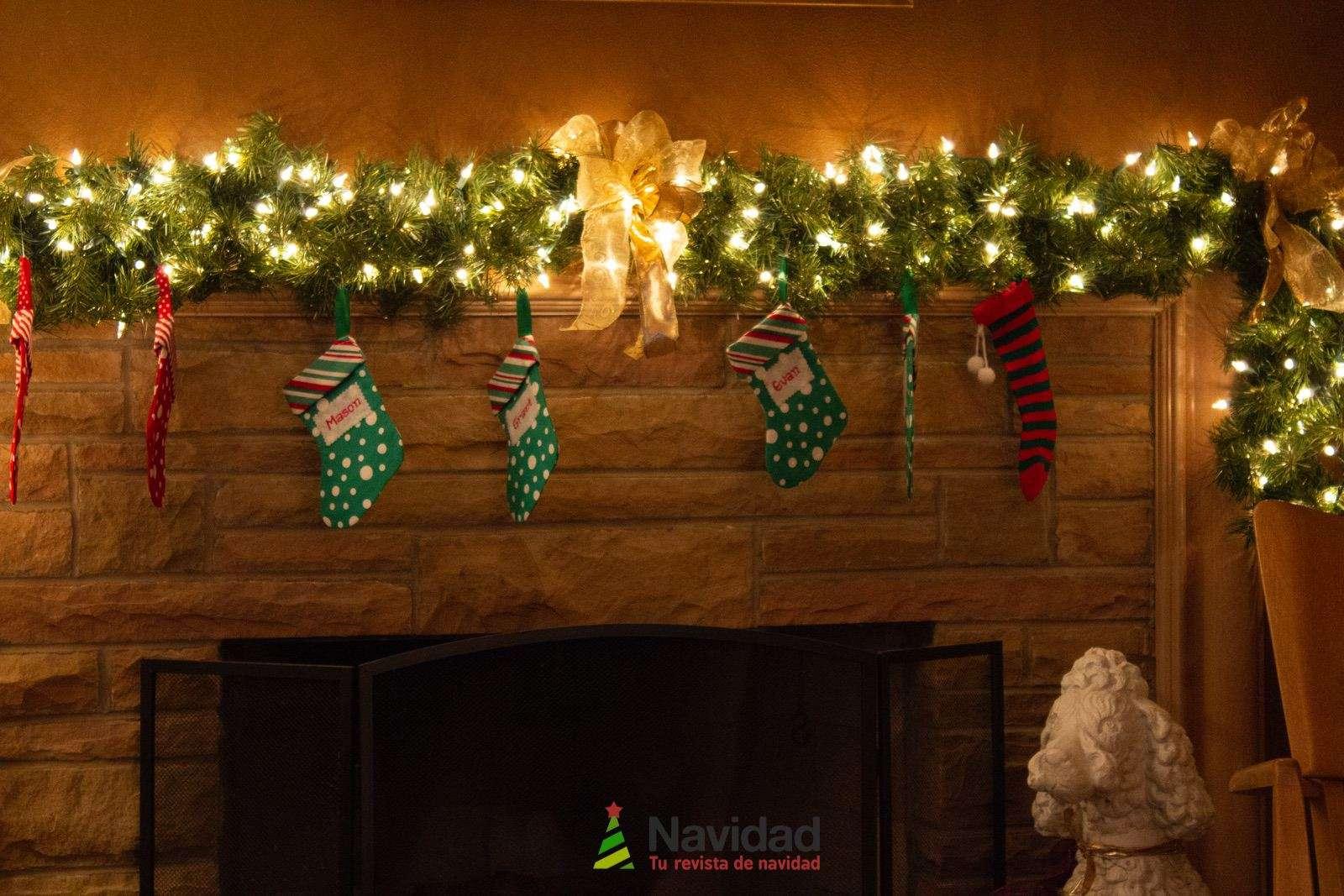 Chimeneas de Navidad para decorar y dar calor en fiestas 52