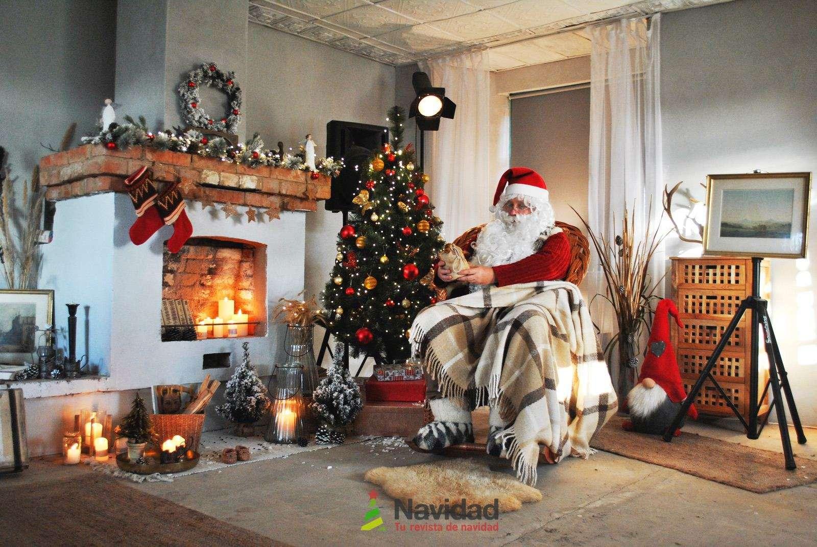 Chimeneas de Navidad para decorar y dar calor en fiestas 53