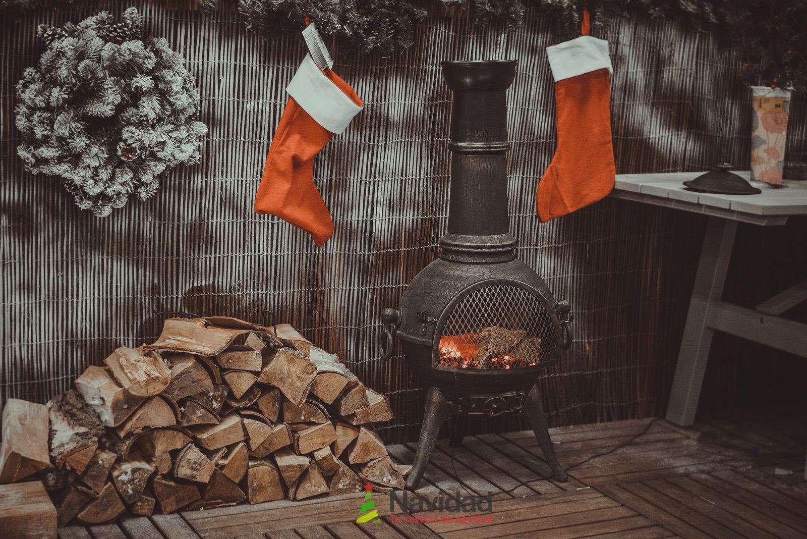 Chimeneas de Navidad para decorar y dar calor en fiestas 54