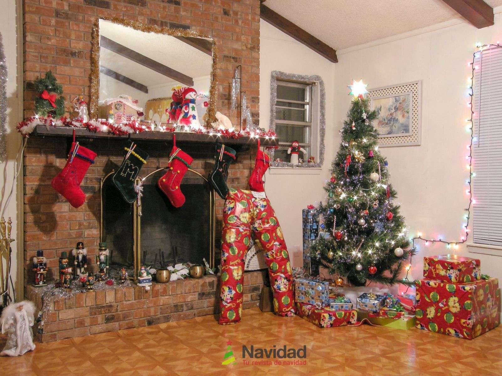 Chimeneas de Navidad para decorar y dar calor en fiestas 56