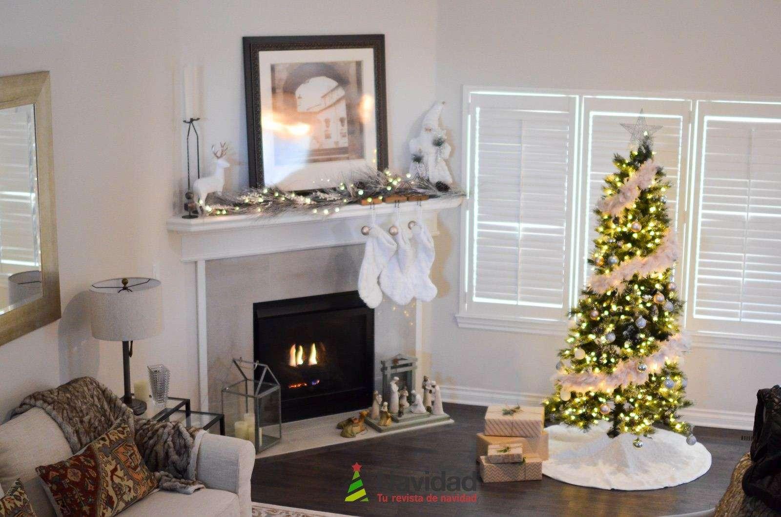 Chimeneas de Navidad para decorar y dar calor en fiestas 57