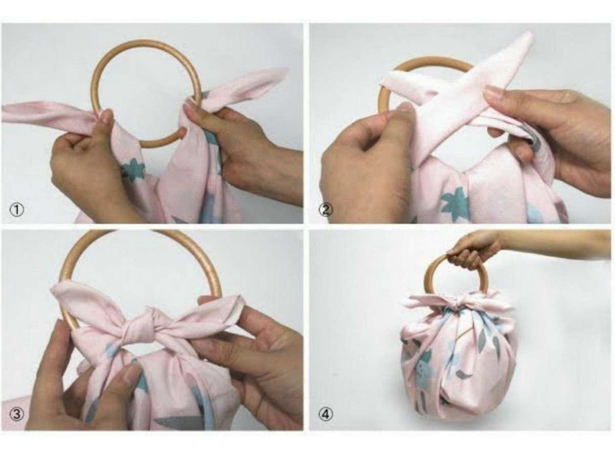 Diferentes maneras de envolver regalos con Furoshiki 4