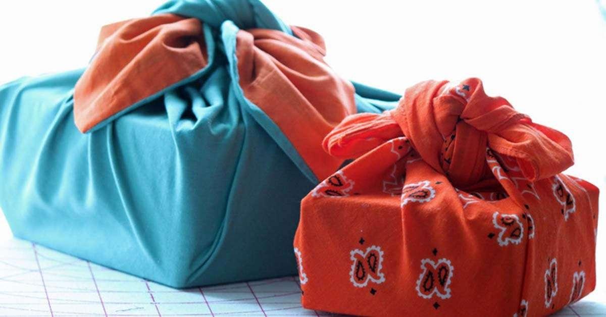 Diferentes maneras de envolver regalos con Furoshiki 8