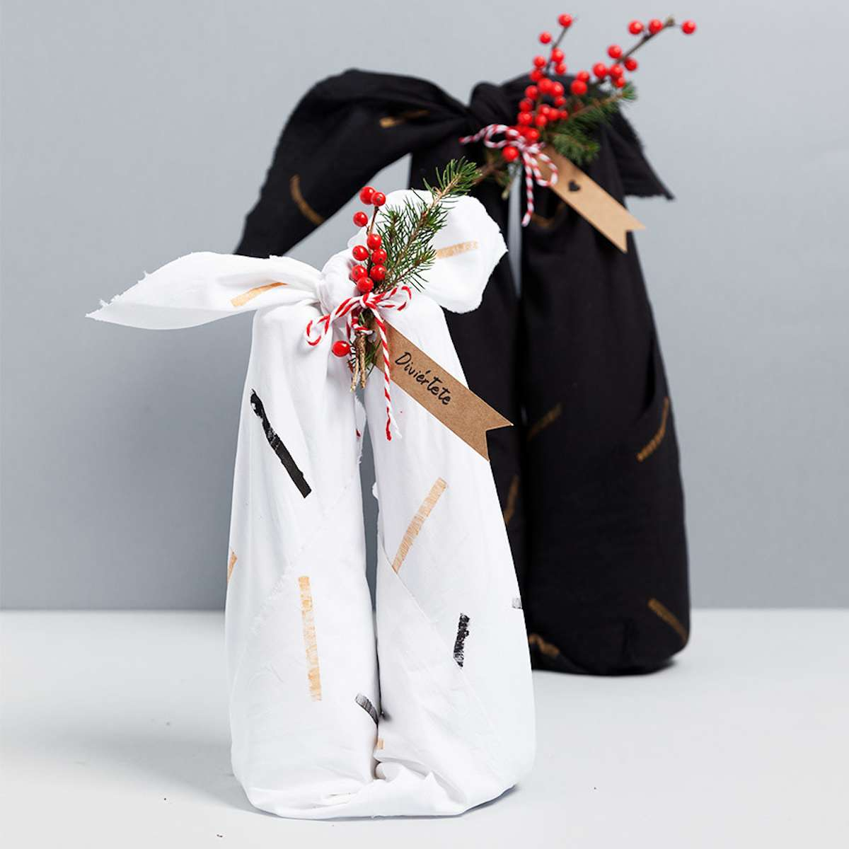 Diferentes maneras de envolver regalos con Furoshiki 6