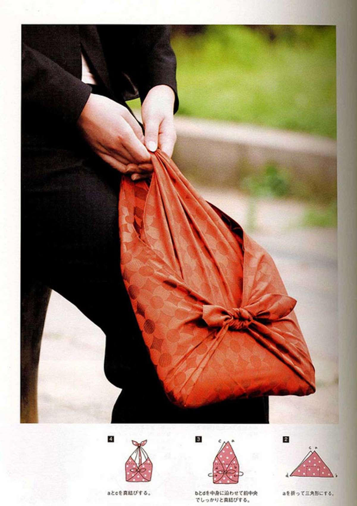 Diferentes maneras de envolver regalos con Furoshiki 9