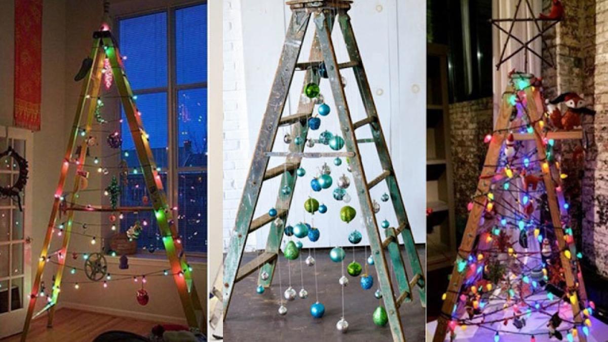 Árboles de Navidad originales y caseros para decorar tu casa 5